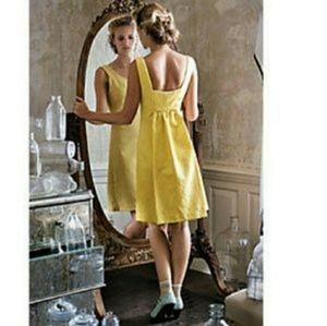 Anthropologie Rain In Spain Yellow Dress